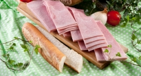 Ontvette ham voor baguette